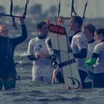 Kite-Paradiesler im Wasser