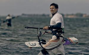 Unser Kite-Profi Olli in seinem Element