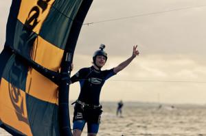 Manu beim Kitesurfen mit der GoPro Actioncam
