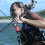 Kitelehrerin Julia Solzer in ihrem Element