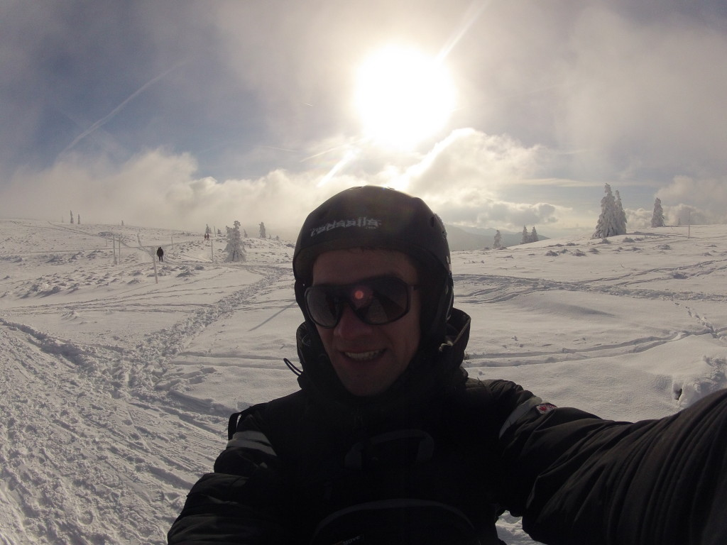 Snowkiting im Schwarzwald