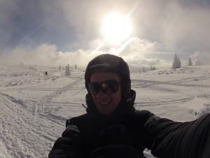 Snowkiting im Mittelgebirge