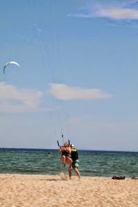 Olli P. mit fliegender Schülerin